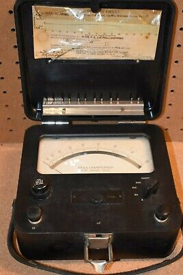 Working Vintage Weston A.c. D.c. Volt Meter Model 621 1954