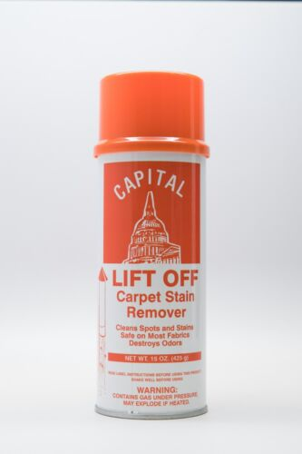 Capital Lift Off Carpet Spotter - Stain Remover- Case of 12 cans 15 oz/can