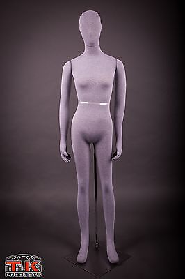 Mannequin Full Size Flexible Posable Grey Female For Costumes Displays