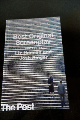The Post Fyc Edition  Rare   Oscar Nominated Film  Liz Hannah And Josh Singer