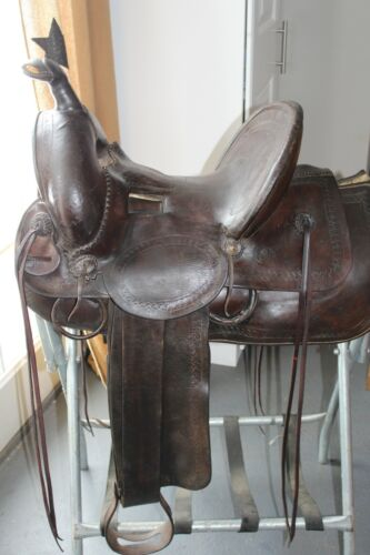 Miles City Antique Saddle by Charles Coggshall  Beautiful Collectors Piece