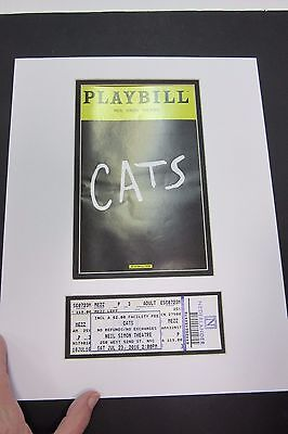 Picture Framing Mat for Playbill and theater ticket White and black liner set 10