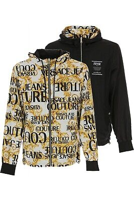 VERSACE JEANS COUTURE mens reversable hooded jacket size M (italy 48) RRP £440