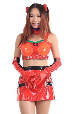 Neon Genesis Evangelion Cosplay Costume Soryu Asuka Langley Racing Outfit V1 (Asuka Evangelion Kostüm)