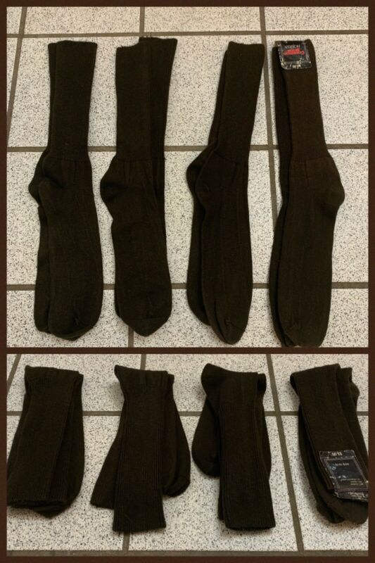 4 Vintage Mens Dress SOCKS Brown Trouser Crew COMMON SENSE 1980s; Sz 10 - 13
