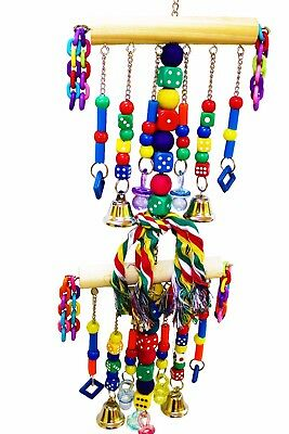 1480 CHAIN WATERFALL TOWER BONKA BIRD TOY parrot cage toys African grey amazon