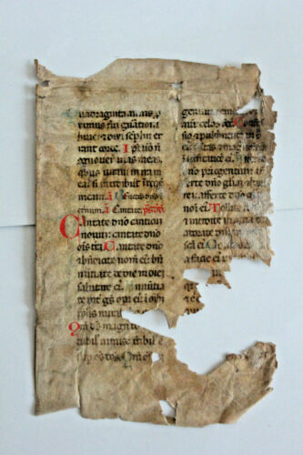 13th-cent Italian Psalter decorated medieval manuscript find in 1600 Bible cover