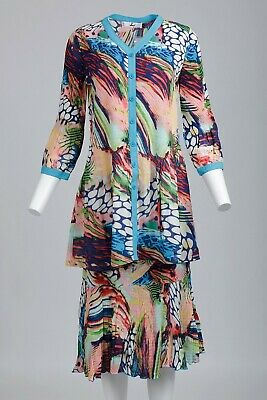 Rossi Roma Women's Jacket- open front  Tunic Crinkle summer Top ONLY  NEW M