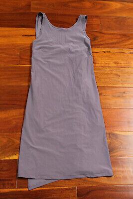 NWT Lululemon Early Morning Dress Crossover Pockets GRHP Graphite Purple 4 $118