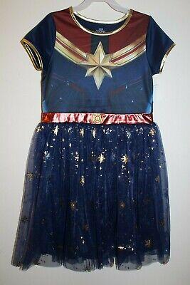 Marvel Girls Cosplay (NEW Captain Marvel Girl's Dress Cosplay Dress up Costume Tutu)