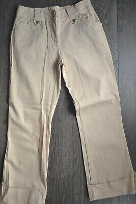 Pantacourt beige style classique - taille 36 (pantalon 3/4 beige)