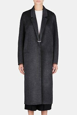 ACNE Studios Foin Double Wool Cashmere Coat in Dark Grey Size FR 38 $1510