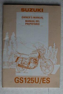 Suzuki GS125U/ES 1983-94 NEW OEM Owners Use & Maintenance Manual 99011-05337-01S