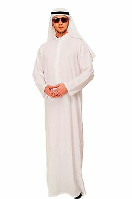 DRESS ME UP Kostüm Scheich Sheik Thawb Saudi Emir Araber Herrenkostüm NEU K48