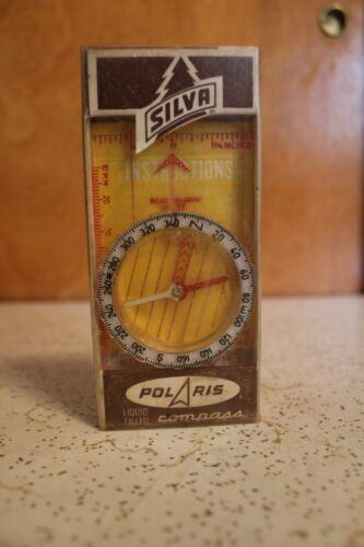 Vintage Silva Polaris Liquid Filled Compass Type 342 W/Instructions Boy Scouts