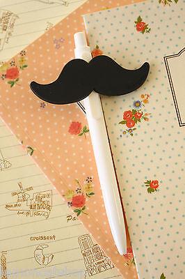 Mustache Pen cute cartoon biro kawaii school planner retractable ballpen jotter