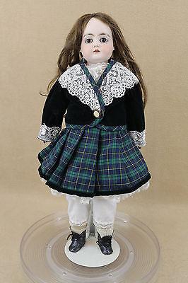 """18"""" old antique bisque shoulder head leather German Kestner Doll Mold 148"""