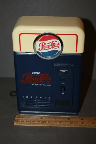 VINTAGE PEPSI COLA 1998 NOVELTY AM/FM ADVERTISING TRANSISTOR RADIO