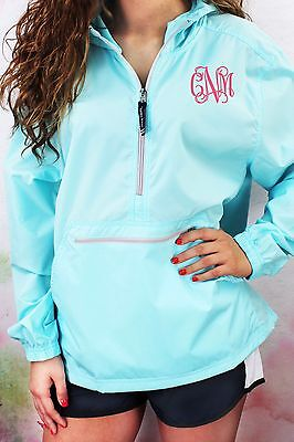 Monogrammed Pullover Rain Jacket Charles River Pack-N-Go S-XL