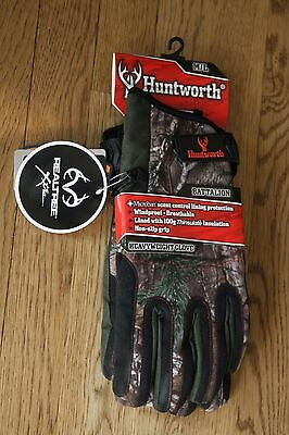 Huntworth HEAVYWEIGHT Gloves Battalion Mens M/L Insulated Scent Control Camo NEW