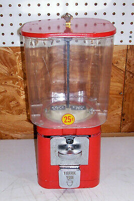Vintage .25 Cent Gumball Candy Store Vending Machine Old Gum Ball Peanut Acorn 1