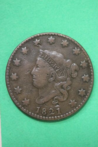 1821 Coronet Head Large Cent Exact Coin Pictured Flat Rate Shipping OCE 60