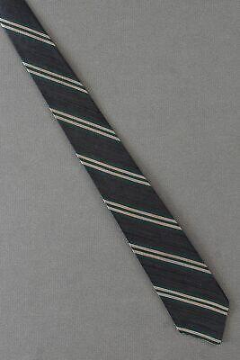 1950s Men's Ties, Bow Ties – Vintage, Skinny, Knit Black, Green & Beige Stripe - 1950's Skinny Narrow Thin Tie Necktie $19.99 AT vintagedancer.com