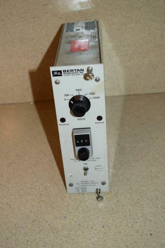BERTAN MODEL 303 DC POWER SUPPLY NIM BIN PLUG IN (TP1002)