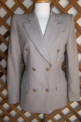 """Givenchy Skirt Suit  6 W 27"""" Taupe Wool Blend Saks Fifth Ave D/B  NEW $1890.00"""