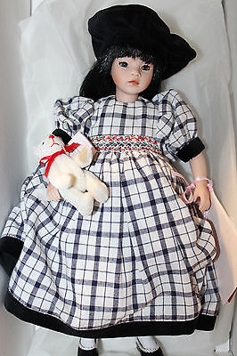 "Pauline Bjonness-Jacobsen Porcelain Doll ""Little Annie"" LE Box COA Tag Bear 12"""