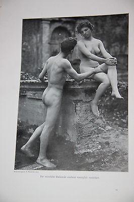 Nackte Schönheit. Ein Buch für Künstler und Ärzte. Hgg. von Dr. Gustav Fritsch.
