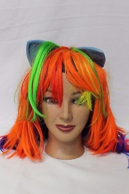 My Little Pony MLP Rainbow Dash Cosplay Wig Hair with Ears Adult NEW Without - Rainbow Dash Wig With Ears