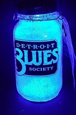 Detroit Blues Society Light Up Mason jar (Light Up Mason Jars)