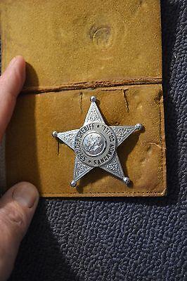 Antique Obsolete Special Deputy Sheriff Badge Sangamon County Illinois NAME/DATE