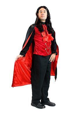 DRESS ME UP – Kostüm Herren Dracula Vampir Dunkler Graf Barock Mittelalter - Vampire Dress Up Kostüm
