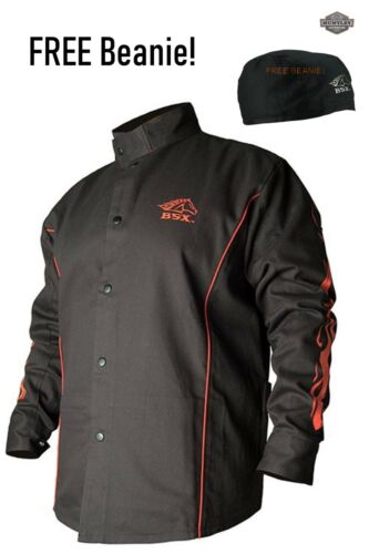 Revco Black Stallion FR Cotton Welding Jacket BX9C BSX MANY SIZES FREE BEANIE!!!