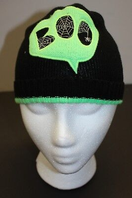 GYMBOREE Toddler Boy Black Boo Spider Beanie Halloween Knit Hat Size:12-24m - Boy Beanie Boos