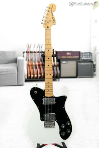 2012 Squier Telecaster Deluxe with Maple Fretboard in Olympic White