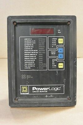 Square D Power Logic Circuit Monitor 3020 Cm2350 With 3090 Vpm-277-c1