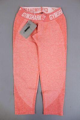 Gymshark Women's Flex Cropped Leggings Peach Coral HD3 Size XS NWT