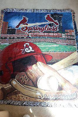 Baseball Springfield Cardinals Throw Blanket Afghan