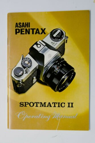 Original Instruction Manual for Asahi Pentax Spotmatic II Camera
