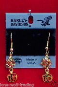 Harley Davidson Gold Earrings