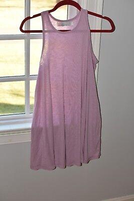 Free People FP Beach lavender light purple dusty swing knit ribbed dress S