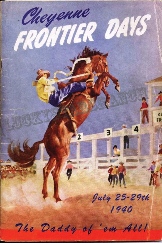 Cheyenne 1940 Vintage Rodeo Poster