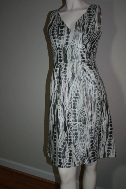 WD NY Metallic Linen Dress Size 4