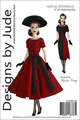 Going Shopping Doll Clothes Sewing Pattern for FR East 59th Integrity Dolls