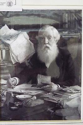 Sir Austen Henry Portrait/Signature - Undated