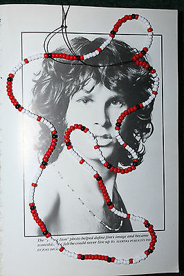 """THE DOORS MOVIE JIM MORRISON NECKLACE 28"""" REPLICA BEAD YOUNG LION RED 1991 COBRA"""