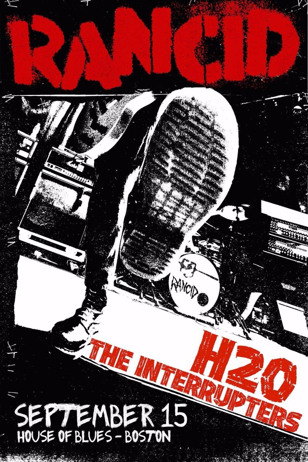 RANCID / H20 / THE INTERRUPTERS 2015 BOSTON CONCERT TOUR POSTER- Punk Rock Music - $11.99